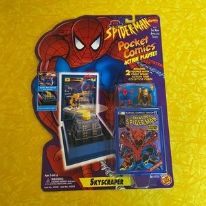 Spider-man Pocket Comics Action Playset. NIB